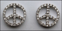 """Peace"" Diamond Studs .33ct"