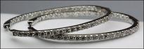 Diamond Hoops - 18kt White Gold Earrings for women