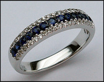 1/2ct Sapphire Band with Diamonds