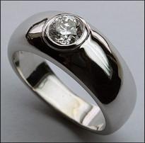3/4ct Diamond Solitiare Men's Ring