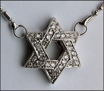 Diamond Jewish Star  with Chain in 14kt