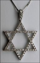 Diamond Jewish Star in 18kt White Gold Star of David