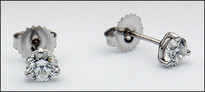 18kt White Gold Diamond Studs - 1.25ct Diamond