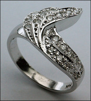 14kt White Gold Ring w/ Diamonds