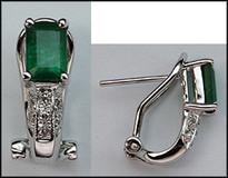 Emerald & Diamond Clip Earring