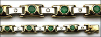 Two Tone Emerald & Diamond Bracelet