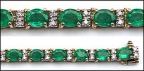 Columbian Emerald Tennis Bracelet, 9.72ct Emerald, 27 Emeralds