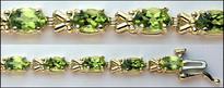 9.02ct Ladies Peridot & Gold Bracelet