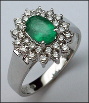 .82ct Emerald Gemstone Ring with 28 Diamonds