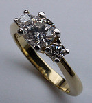 3 Stone Engagement Ring - 1.43ct Diamond - G Color