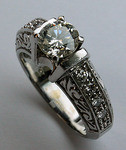 1.20ct Diamond Engagement Ring (Antique Reproduction)