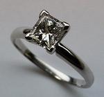 1.09 F-SI1 GIA Certified Princess Cut Diamond