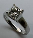 1.61ct G Color, VS1 Clarity, EGL Certified Princess Cut Diamond Ring