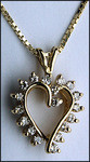 Diamond .36ct Open Heart Pendant