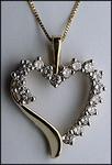 1ct Diamond Heart Pendant