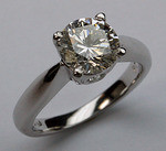 1.70ct Solitaire Engagement Ring - EGL Certified - Platinum