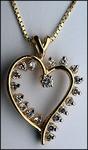 3/4ct Open Diamond Heart Pendant