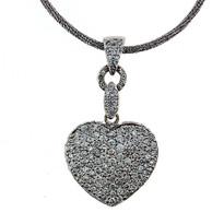 18kt Pave Diamond Heart Pendant, 4.05ct Diamond