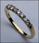 18kt Yellow Gold Band, .32ct Diamond, 7 Diamonds