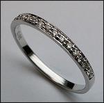 18kt White Gold, 1/4ct Diamond Wedding Band