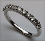 18kt White Gold Diamond Wedding Band, .58ct Diamond