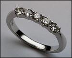 1/2 ct, Petite Ladies Diamond Wedding Band