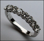 1ct, F Color, Diamond Wedding Band in 18kt White Gold