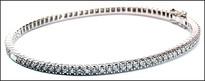 Diamond Eternity Bangle, 1.57ct G Color Diamonds, 18kt White