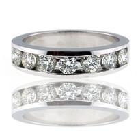 14kt White Gold Mens Diamond Wedding Band