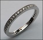 2 1/2mm Diamond Eternity Wedding Band - 18kt White Gold