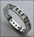 Channel Set Diamond Eternity Band, 3mm