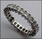Diamond Eternity Band with 2.50ct Princess Cut Diamonds