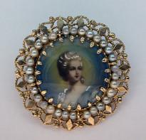 Antique Cultured Pearl Pin/Pendant