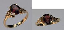 Ladies Garnet and Diamond Ring