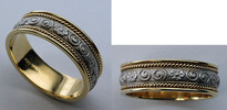 Antique Style Gold Mens Wedding Band