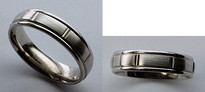 14kt Gold Mens Wedding Band - Comfort Fit by Benchmark RECF76452