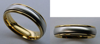 Benchmark Two-Tone Mens Wedding Band - Comfort Fit