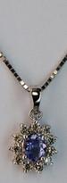 Tanzanite Pendant with Diamonds