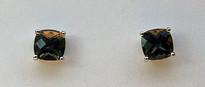 Smokey Topaz Stud Earrings