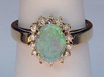 Opal Ring with Diamonds 057OP