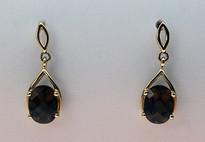 Smokey Topaz Gold Earrings EGE128