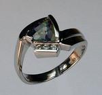 14kt Gold Mystic Topaz Ring with Diamonds 50EGR