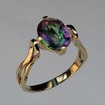14kt Gold Mystic Topaz Ring EGR083