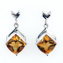 14kt Gold Citrine Earrings EGE098
