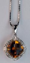 14kt Gold Citrine and Diamond Pendant HO6531209