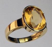 14kt Gold Citrine Ring 01Y75ML