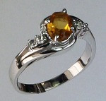 14kt Gold Citrine and Diamond Ring R336