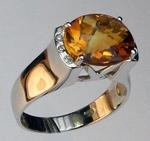 14kt Gold Citrine and Diamond Ring EGR023