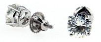 Round Diamond Stud Earrings .30ct