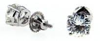 Round Diamond Stud Earrings .75ct